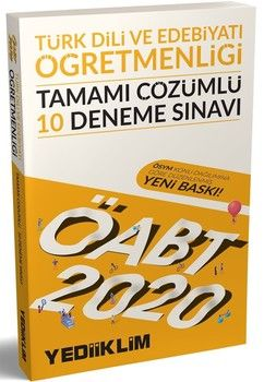 Yediiklim Yayınları 2020 ÖABT Türk Dili ve Edebiyatı Öğretmenliği Tamamı Çözümlü 10 Deneme Sınavı