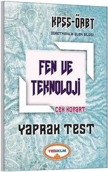 Yediiklim Yayınları ÖABT Fen ve Teknoloji Öğretmenliği Çek Kopart Yaprak Test