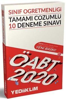 Yediiklim Yayınları 2020 ÖABT Sınıf Öğretmenliği Tamamı Çözümlü 10 Deneme Sınavı