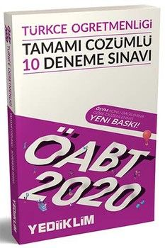 Yediiklim Yayınları 2020 ÖABT Türkçe Öğretmenliği Tamamı Çözümlü 10 Deneme Sınavı