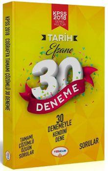Yediiklim Yayınları 2018 KPSS Tarih Tamamı Çözümlü Efsane 30 Deneme