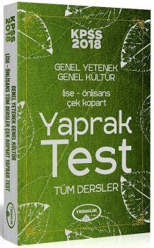 Yediiklim Yayınları 2018 KPSS Lise Ön Lisans Çek Kopart Yaprak Test