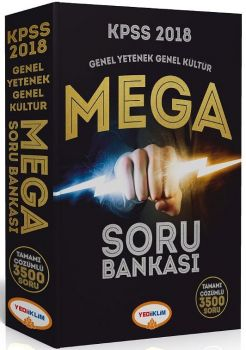 Yediiklim Yayınları 2018 KPSS Genel Yetenek Genel Kültür Mega Soru Bankası