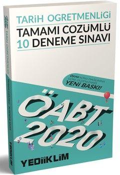 Yediiklim Yayınları 2020 ÖABT Tarih Öğretmenliği Tamamı Çözümlü 10 Deneme Sınavı