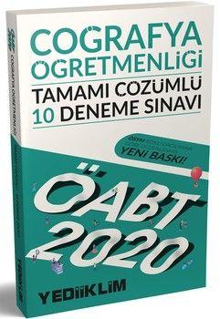 Yediiklim Yayınları 2020 ÖABT Coğrafya Öğretmenliği Tamamı Çözümlü 10 Deneme Sınavı