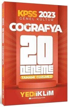 Yediiklim Yayınları 2020 KPSS Genel Kültür Coğrafya Ders Notları