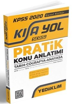 Yediiklim Yayınları 2020 KPSS Genel Kültür Pratik Kısayol Serisi Konu Anlatımı