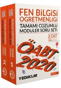 Yediiklim Yayınları 2020 ÖABT Fen Bilgisi Öğretmenliği Tamamı Çözümlü Modüler Soru Seti 2 Cilt