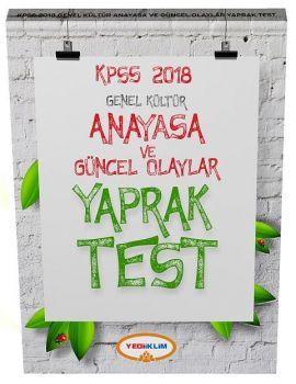 Yediiklim Yayınları 2018 KPSS Genel Kültür Anayasa Çek Kopart Yaprak Test
