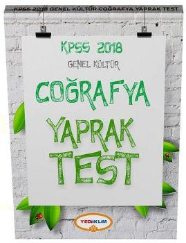 Yediiklim Yayınları 2018 KPSS Genel Kültür Coğrafya Çek Kopart Yaprak Test