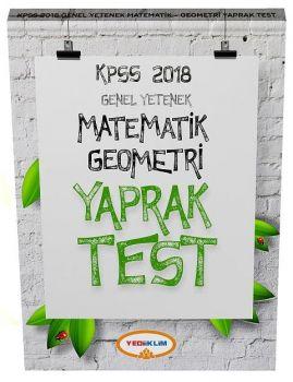 Yediiklim Yayınları 2018 KPSS Genel Yetenek Matematik Geometri Çek Kopart Yaprak Test