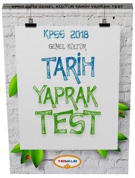Yediiklim Yayınları 2018 KPSS Genel Kültür Tarih Çek Kopart Yaprak Test