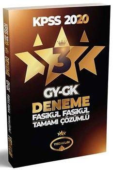 Yediiklim Yayınları 2020 KPSS Genel Yetenek Genel Kültür 3 Yıldız 3 Fasikül Deneme