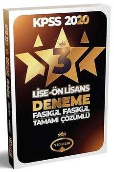 Yediiklim Yayınları 2020 KPSS Lise Önlisans 3 Yıldız 3 Fasikül Deneme