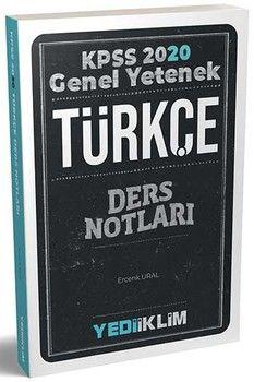 Yediiklim Yayınları 2020 KPSS Türkçe Genel Yetenek Ders Notları