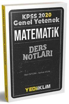 Yediiklim Yayınları 2020 KPSS Genel Yetenek Matematik Ders Notları