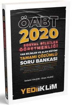 Yediiklim Yayınları 2020 KPSS ÖABT Sosyal Bilgiler Öğretmenliği Yan Bilimler ve Alan Eğitimi Tamamı Çözümlü Soru Bankası
