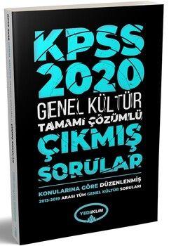 Yediiklim Yayınları 2020 KPSS Genel Kültür 2013 2019 Konularına Göre Tamamı Çözümlü Çıkmış Sorular