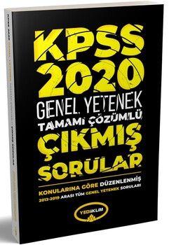 Yediiklim Yayınları 2020 KPSS Genel Yetenek 2013 2019 Konularına Göre Tamamı Çözümlü Çıkmış Sorular