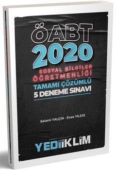 Yediiklim Yayınları 2020 ÖABT Sosyal Bilgiler Öğretmenliği Tamamı Çözümlü 5 Deneme Sınavı