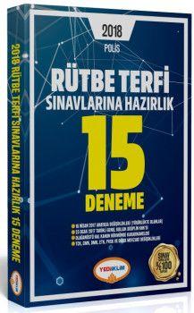 Yediiklim Yayınları 2018 POLİS Rütbe Terfi Sınavlarına Hazırlık 15 Deneme