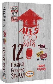 Yediiklim Yayınları 2018 ALES Tüm Adaylar İçin Sayısal Sözel Yetenek Tamamı Çözümlü 12 Fasikül Deneme Sınavı