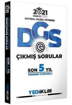 Yediiklim Yayınları 2021 DGS Tamamı Çözümlü Son 5 Yıl Çıkmış SorularPrestij Serisi