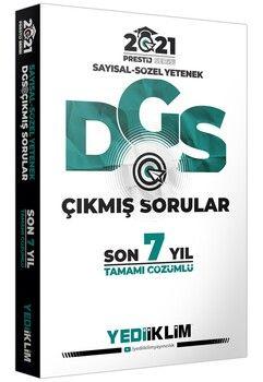 Yediiklim Yayınları 2021 DGS Tamamı Çözümlü Son 7 Yıl Çıkmış SorularPrestij Serisi