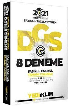Yediiklim Yayınları 2021 DGS Prestij Serisi Tamamı Çözümlü 8 Fasikül Deneme