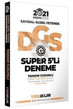 Yediiklim Yayınları 2021 DGS Prestij Serisi Tamamı Çözümlü Süper 5 Deneme
