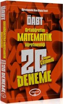 Yediiklim Yayınları ÖABT Ortaöğretim Matematik Öğretmenliği Tamamı Çözümlü 20 Deneme