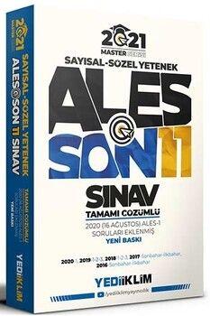 Yediiklim Yayınları 2021 ALES Son 11 Sınav Tamamı Çözümlü Çıkmış Sorular Master Serisi