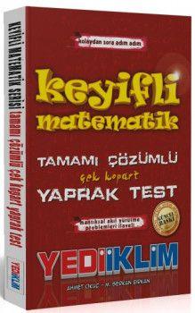 Yediiklim Yayınları Kolaydan Zora Adım Adım Keyifli Matematik Tamamı Çözümlü Çek Kopart Yaprak Test