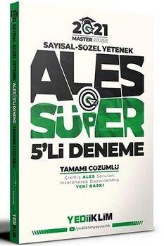 Yediiklim Yayınları 2021 ALES Sayısal Sözel Yetenek Tamamı Çözümlü Süper 5 li Deneme Master Serisi