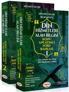 Yediiklim Yayınları DHBT Tüm Adaylar İçin Din Hizmetleri Konu Anlatımlı Soru Bankası 2 Cilt