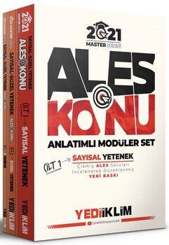 Yediiklim Yayınları 2021 ALES Konu Anlatımlı Modüler Set 3 Cilt Master Serisi