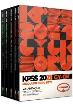 Yediiklim Yayınları KPSS 2021 Genel Yetenek Genel Kültür Tamamı Çözümlü Soru Bankası