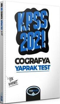 Yediiklim Yayınları 2021 KPSS Genel Kültür Coğrafya Çek Kopart Yaprak Test