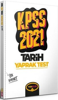 Yediiklim Yayınları 2021 KPSS Genel Kültür Tarih Çek Kopart Yaprak Test