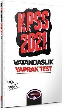 Yediiklim Yayınları 2021 KPSS Genel Kültür Vatandaşlık Çek Kopart Yaprak Test