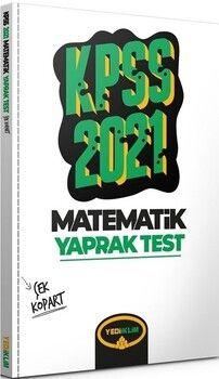 Yediiklim Yayınları 2021 KPSS Genel Yetenek Matematik Çek Kopart Yaprak Test