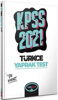 Yediiklim Yayınları 2021 KPSS Genel Yetenek Türkçe Çek Kopart Yaprak Test