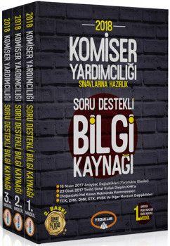 Yediiklim Yayınları 2018 Komiser Yardımcılığı Sınavlarına Hazırlık Soru Destekli Bilgi Kaynağı Modüler Set