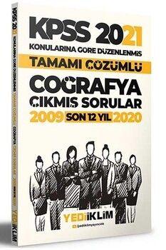 Yediiklim Yayınları 2021 KPSS Genel Kültür Coğrafya Son 12 Yıl Konularına Göre Tamamı Çözümlü Çıkmış Sorular