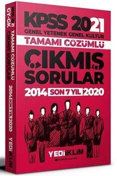 Yediiklim Yayınları 2021 KPSS GY GK Tamamı Çözümlü Son 7 Yıl Çıkmış Sorular