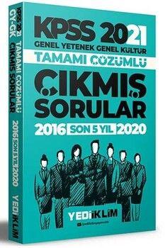Yediiklim Yayınları 2021 KPSS GY GK Tamamı Çözümlü Son 5 Yıl Çıkmış Sorular