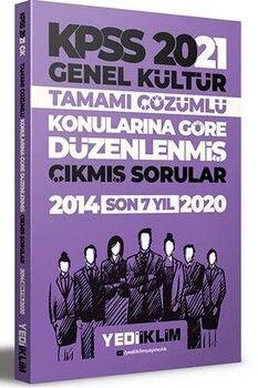 Yediiklim Yayınları 2021 KPSS Genel Kültür Konularına Göre Tamamı Çözümlü Çıkmış Sorular