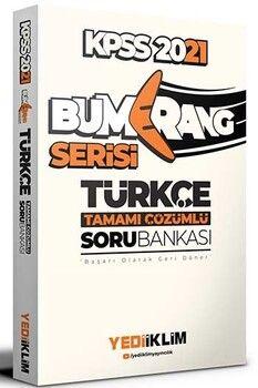 Yediiklim Yayınları 2021 KPSS Genel Yetenek Türkçe Bumerang Tamamı Çözümlü Soru Bankası