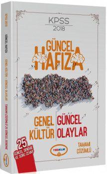 Yediiklim Yayınları 2018 KPSS Güncel Hafıza Genel Kültür ve Güncel Olaylar 25 Deneme