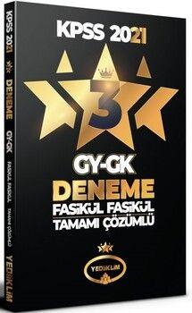 Yediiklim Yayınları 2021 KPSS Genel Yetenek Genel Kültür Tamamı Çözümlü 3 Yıldız 3 Fasikül Deneme